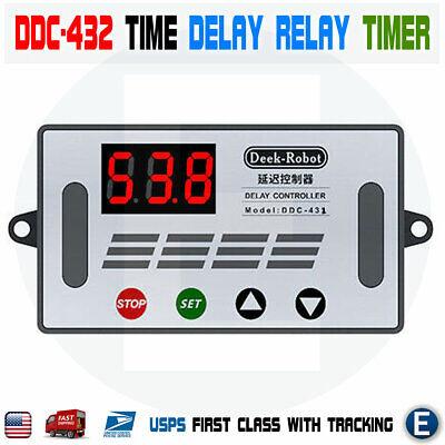 Ddc-432 Time Delay Relay Timer Led Digital Display Dc 5v-30v Dual Mos Switch Usa