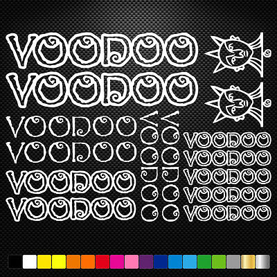 Voodoo Cycles Vinyl Decals Stickers Sheet Bike Frame Cycling Bicycle Mtb Road ()