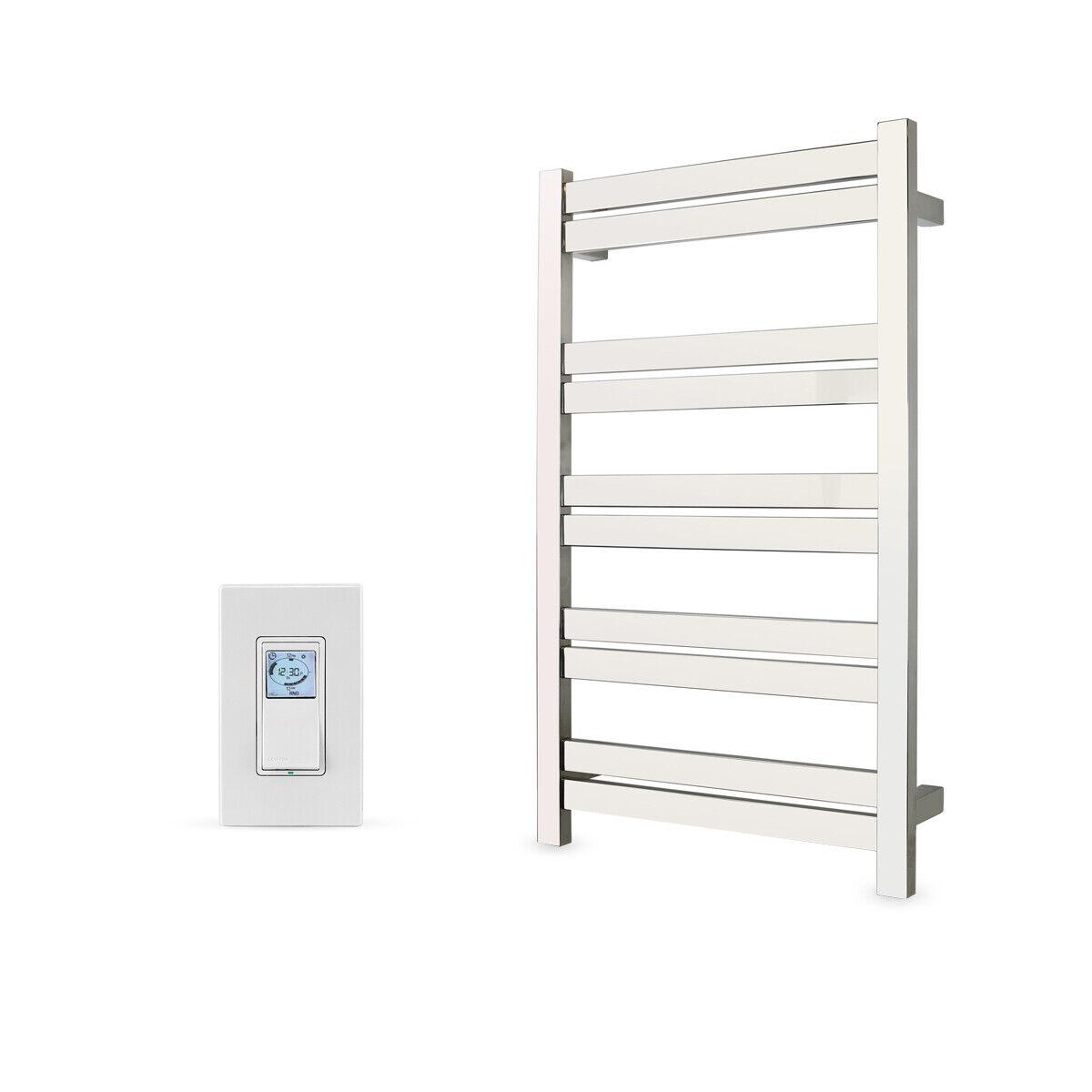 polished hardwired towel warmer 10 bar programmable