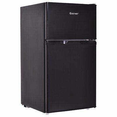 Frigo Frigorifero Doppia Porta con Congelatore Regolatore Temperatura,95 Litri