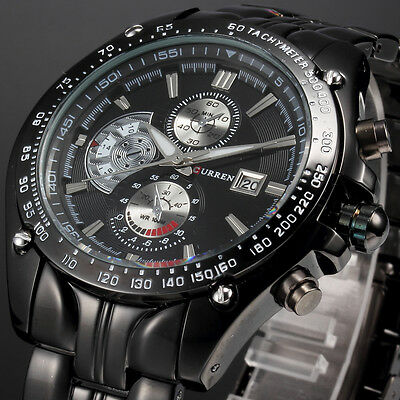 Kyпить CURREN Men Fashion Military Stainless Steel Analog Date Sport Quartz Wrist Watch на еВаy.соm