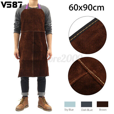 Welder Apron Cowhide Leather Durable Protective Apron Heat Resistant 24 X 36