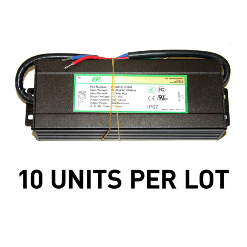 [LOT OF 10] NEW EPtronics 96W LED Drivers, Constant Current 3500mA UL Recognized
