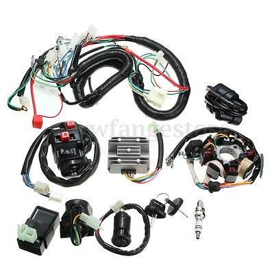 Full Wiring Harness Loom Solenoid Coil Regulator CDI 150 200 250cc ATV Quad  for sale  Shipping to United Kingdom