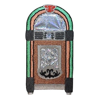 - ID 1949 Jukebox Patch Music Sock Hop Dinner Record Embroidered Iron On Applique