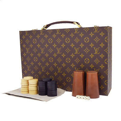 ULTRA RARE Auth LOUIS VUITTON Bag Gammon Board Game Hand Bag Monogram BN 77U982
