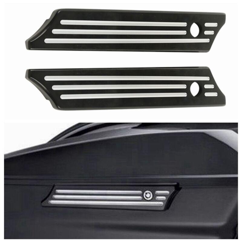 PBYMT Black Saddlebag Saddle Hard Bag Latch Cover Compatible for Harley Touring Road King Electra Street Glide 2014-2020