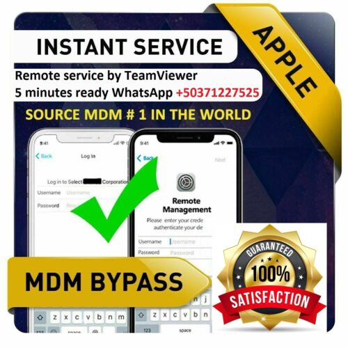 REMOTE SERVICE MDM / REMOTE MANAGEMENT BYPASS iPHONE/ iPOD/ iPAD All iOS 14 - 15