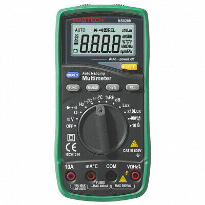 Mastech Ms8209 5 In 1 Multimeter Lux Sound Level Humiditytemperaturetrue Rms