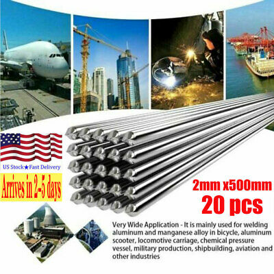 20x 2.0mm Easy Aluminum Solder Melt Welding Flux Cored Rods Wire Brazing Us-tock