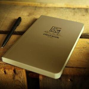 Rite in the Rain 980 Waterproof Paper Notepad Tactical Field Book Notebook Tan