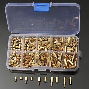 300Pcs M3 Brass Standoff Spacer Hex Hexagonal 3mm Nuts Screw Pillars Set