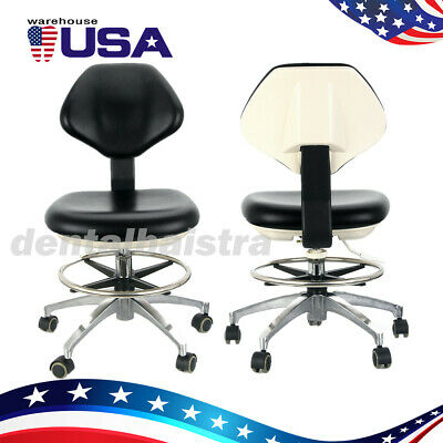 2x Ups Medical Pu Leather Dentist Stool Doctor Assistant Mobile Chair Adjustable