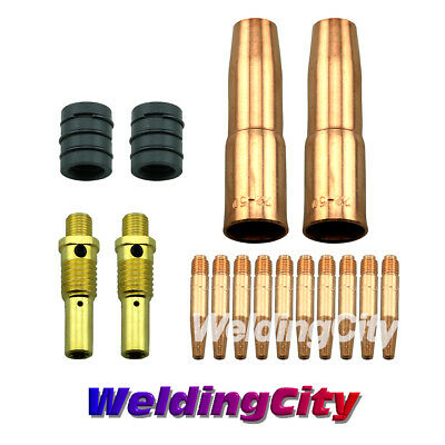 Mig Welding Gun Kit .030 For Lincoln 200250 Tweco 2 Tapered Tip-nozzle M6t