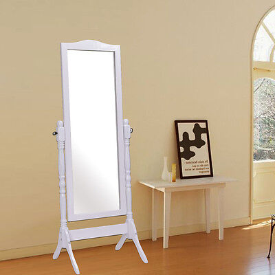 Full Length Dressing Mirror Swivel Wood Cheval Floor Standing Antique Bedroom