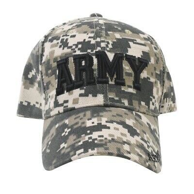 Officially Licensed Camo US Army Baseball Hat Embroidered