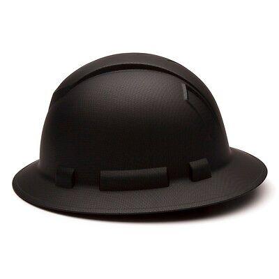 Pyramex Full Brim Hard Hat With 4 Point Ratchet Suspension Graphite Black