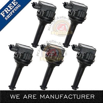 Premium Ignition coil 5 Pack for Volvo C70 S70 XC70 XC90 S60 UF341 C1258 9125601