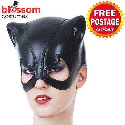 AC677 Black Vinyl Cat Costume Mask Masquerade Cat - Vinyl Catwoman Maske