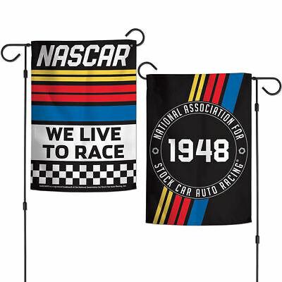 Nascar Garden Flag (NASCAR We Live to Race Double Sided Garden Flag and Yard Banner )