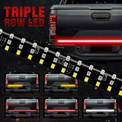 6 Modes 432LED Truck Strip Tailgate Light Bar 3Row Reverse Brake Signal Tail 60