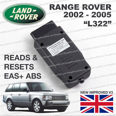 Range Rover L322 EAS ABS READ and RESET tool Air Suspension fault clear activate