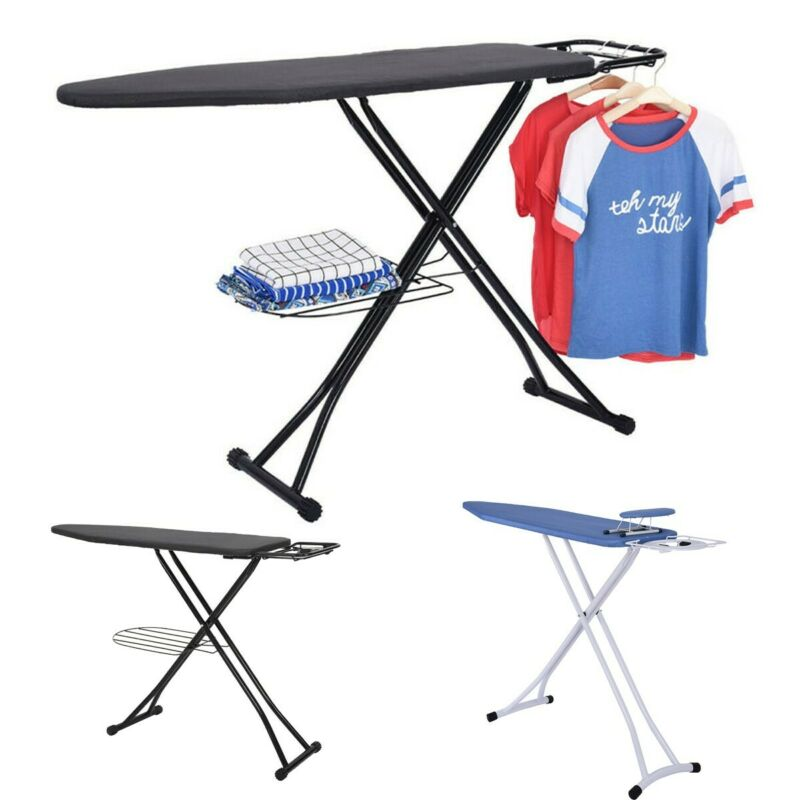 "48"" Portable Home Ironing Board Folding Adjustable Board Wit"