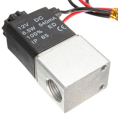 12v Dc 14 2 Way Normally Closed Pneumatic Aluminum Electric Solenoid Air Valve