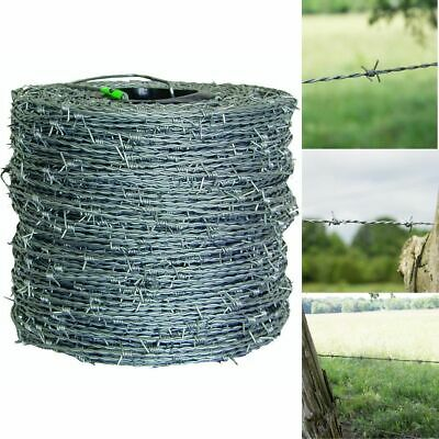 Barbed Wire 1320 Ft 15 12 Gauge 4 Point High Tensile Cl3 Durable Wire Fencing