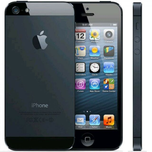"Apple Iphone 5 32GB 4G LTE 4"" Factory Unlocked GSM Smartphone Black - USED"