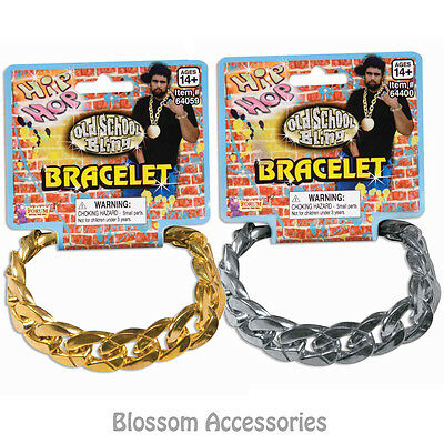 A415 Big Link Bracelet Jewellery Gangster Pimp Rapper Costume - Rapper Costume Accessories