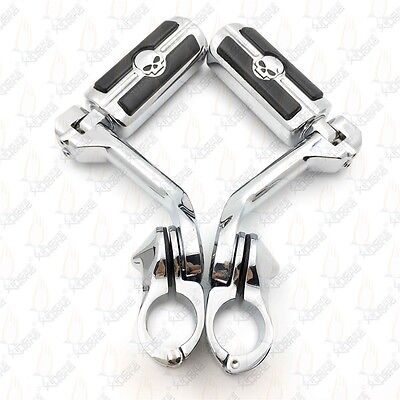 """1 1/4"""" Long Angled Highway Engine Guard Foot Peg For Softail Deluxe FLSTN"""
