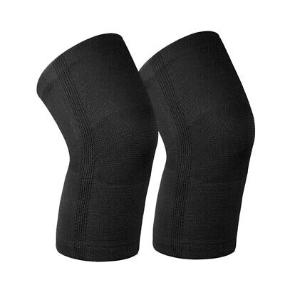 2 Piece L Knee Compression Sleeve  For Sports Joint Pain Relief Injury Recovery (Sports Injury Recovery)