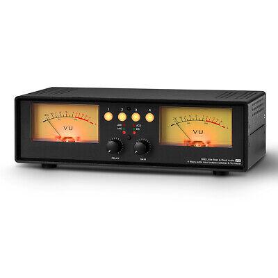 Micline Analog Dual Vu Meter Sound Level Indicator Audio Splitter Switcher Box