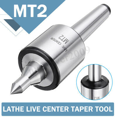 Mt2 Accuracy Lathe Live Center Taper Triple Bearing Chuck Woodworking Duty Tool