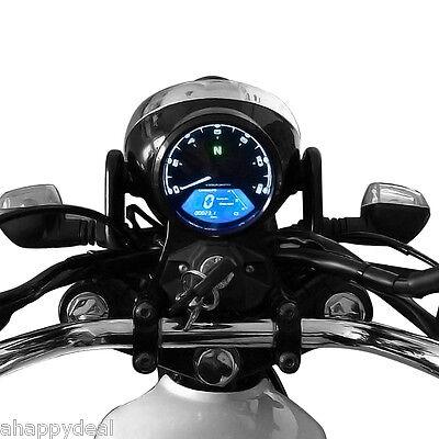 Digital Tachometer Speedometer Odometer LCD 12000RPM Motorcycle Bike Boat Marine
