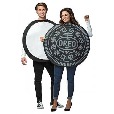Oreo Cookie Costume Adult Couples Funny Halloween Fancy Dress - Costumes Couples Halloween