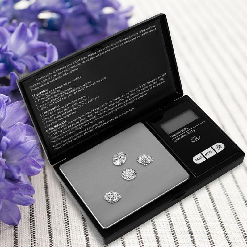 200 g * 0,01 g Mini Digital Waage Feinwaage Taschenwaage Goldwaage Juwelierwaage