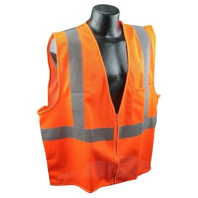 Full Source Class 2 Reflective Mesh Safety Vest With Pocket Orange
