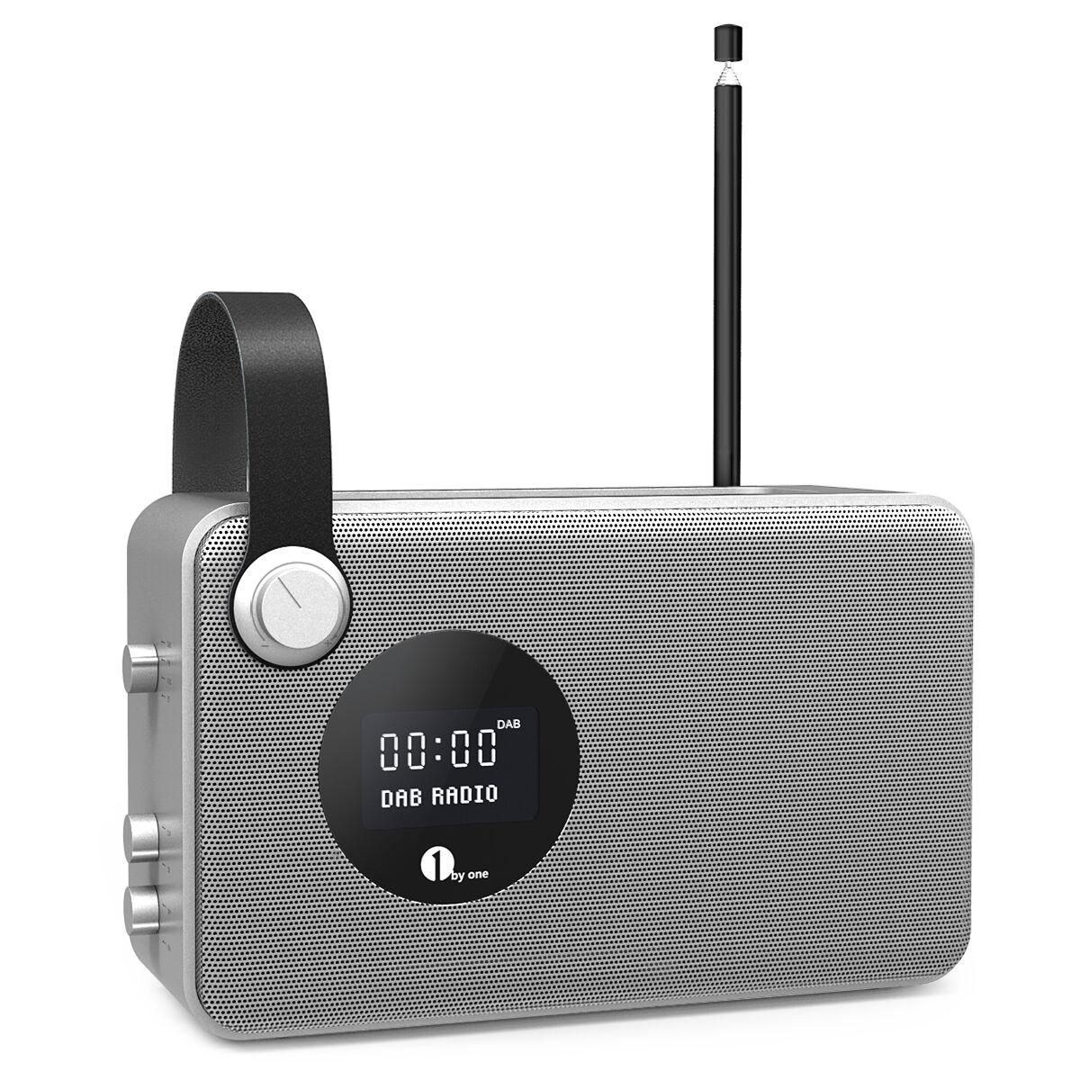 1byone bluetooth digital radio tragbar dab fm ukw empfang. Black Bedroom Furniture Sets. Home Design Ideas