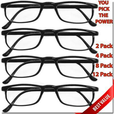 READING GLASSES LENS 2,4,8,12 PACK LOT CLASSIC READER UNISEX MEN WOMEN STYLE -