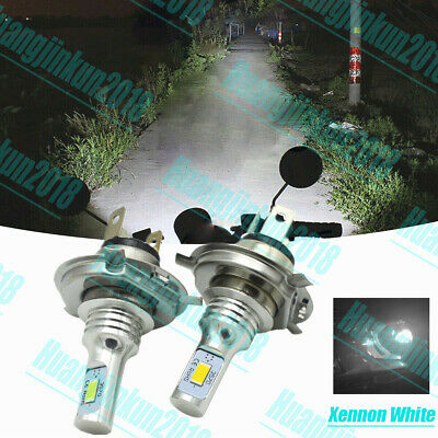 9003 H4 Motorcycle LED Headlights Bulbs Kit High&Low Beam Best 6000K Clear