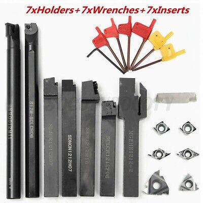 12mm 21pcsset Carbide Shank Lathe Turning Tool Holder Boring Bar Insertwrench