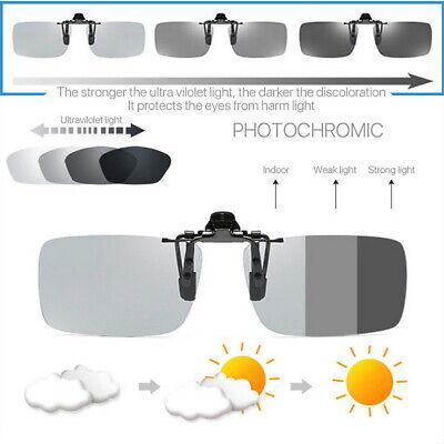 Photochromic Polarised Clip On Flip Sunglasses UV400 Polarized Fishing (Ladies Polarised Sunglasses)
