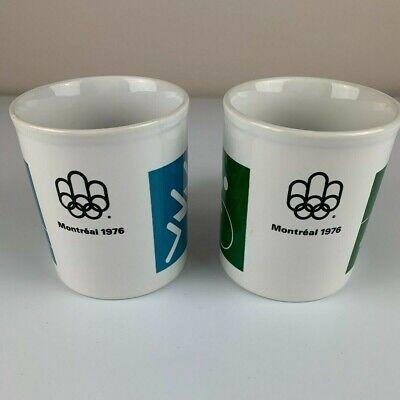VTG SET OF 2 Coffee Montreal 1976 Olympic Games Staffordshire Mug Mugs Sports