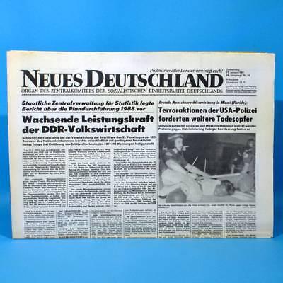 DDR Neues Deutschland 19.01.1989 Januar Zum Geburtstag Hochzeitstag 29. 30. 31.