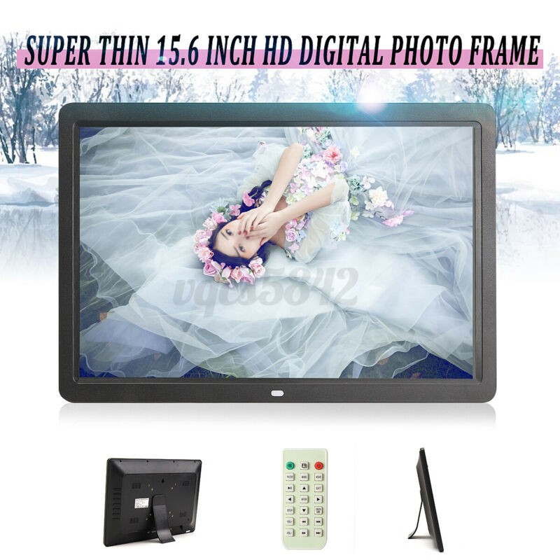 15.6 Inch Digital Photo Frame Electronic Picture Album MP3 Player+Remote