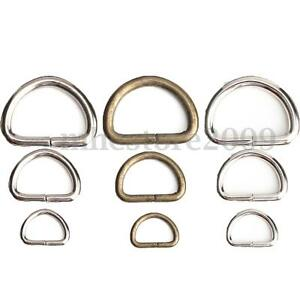 10Pcs-15-25-38mm-D-Rings-Buckles-Clips-Non-Welded-Sport-Webbing-Leather-Craft-HQ