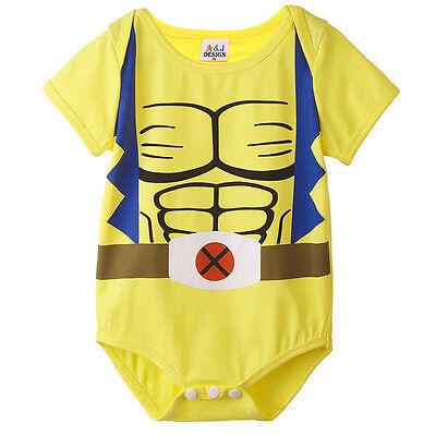 Baby Boy Wolverine Bodysuit Newborn Superhero Costume Playsuit Jumpsuit Outfit ](Superhero Baby Costume)