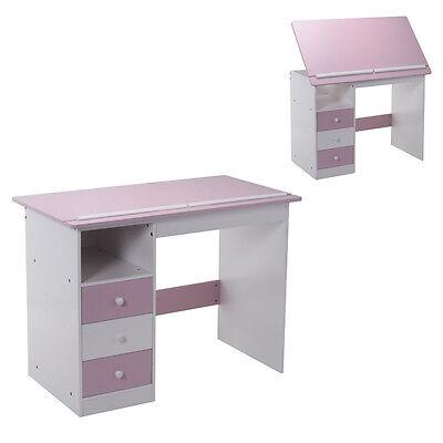 Goplus Kinderschreibtisch Schülerschreibtisch Computertisch Kindertisch neigbar